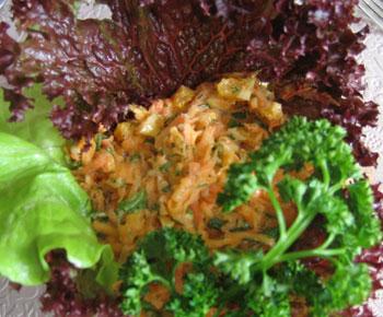Витаминный салат из тыквы