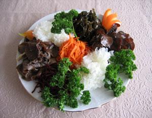 Салат из грибов по-корейски