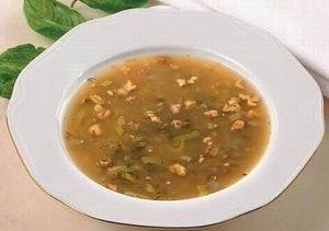 Суп из зелени с гранатовым соком