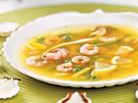 Вьетнамский суп с креветками и грибами