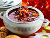 Томатный суп с кукурузой и черными грибами